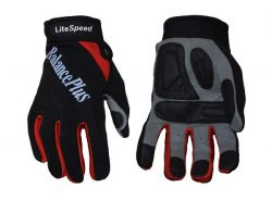 BalancePlus LiteSpeed Unlined Curling Gloves in red