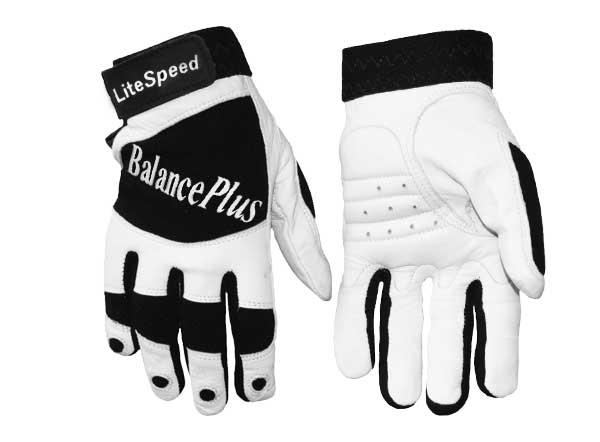BalancePlus white leather gloves