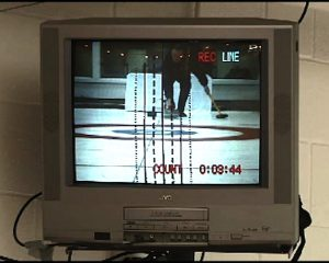 video monitor Howard camp of line of delivery on technology of curling