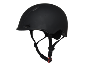 side view of black curling helmet from BalancePlus